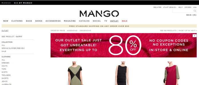 Outlet Mango online